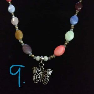 Butterfly Hand Beaded Necklace